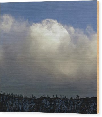 Clouds Over The Ridge Wood Print by Agustin Goba