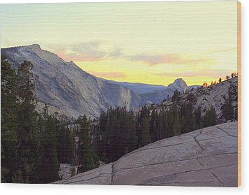 Wood Print featuring the photograph Clouds Rest And Half Dome by Lynn Bawden