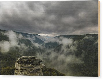 Clouds Rising At Lindy Point Wood Print