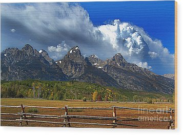 Wood Print featuring the photograph Clouds Rising by Diane E Berry