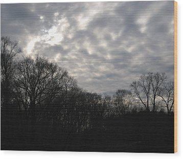 Clouds Roll Over The Sky Wood Print by Jennifer  Sweet
