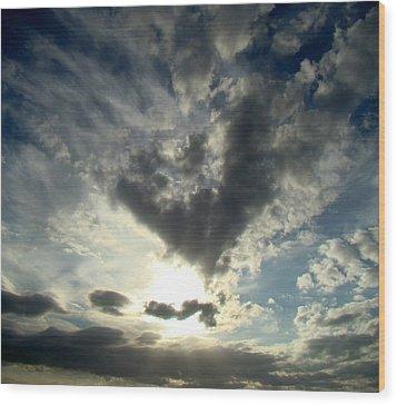 Clouds Two Wood Print by Ana Villaronga