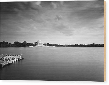 cloudscape and the Tidal Basin Wood Print