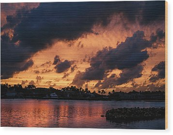 Wood Print featuring the photograph Cloudscape by Laura Fasulo
