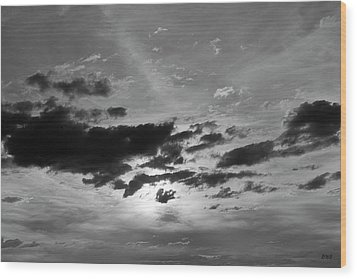 Cloudscape Xxi Bw Wood Print by David Gordon