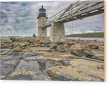 Wood Print featuring the photograph Cloudy Day At Marshall Point by Rick Berk