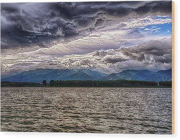 Cloudy Wood Print