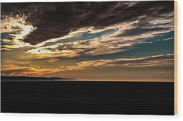 Wood Print featuring the photograph Cloudy Sunset by Onyonet  Photo Studios
