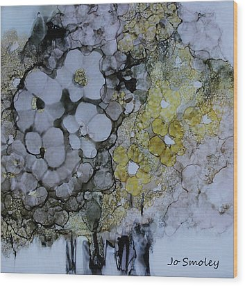 Wood Print featuring the painting Cloudy With A Chance Of Sunshine by Joanne Smoley
