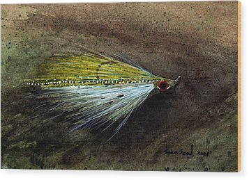 Clouser Minnow Wood Print