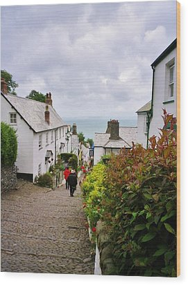 Clovelly High Street Wood Print