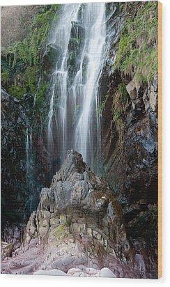 Clovelly Waterfall Wood Print