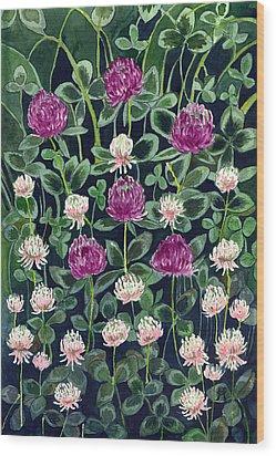 Clover Wood Print