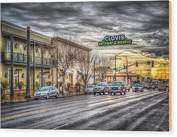 Clovis California Wood Print