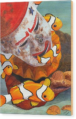 Clown Fish Wood Print by Catherine G McElroy