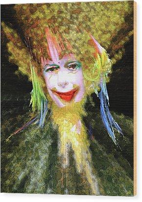 Clown Wood Print by Robert Sloan