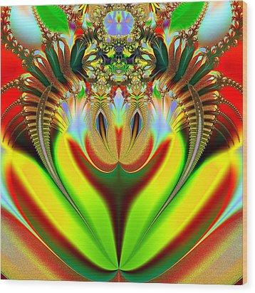 Clown Wood Print by Sfinga Sfinga