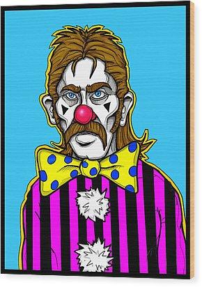 Clown Stallion Wood Print by Christopher Capozzi