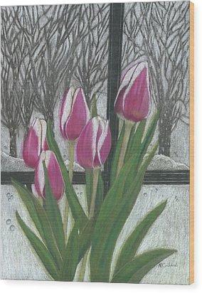 C'mon Spring Wood Print