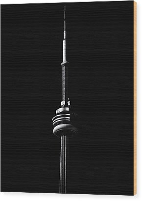 Wood Print featuring the photograph Cn Tower Toronto Canada No 1 by Brian Carson