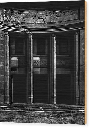Wood Print featuring the photograph Cne Horse Palace Toronto Canada by Brian Carson