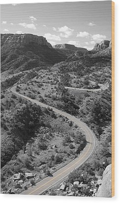 Cnm Switchbacks Wood Print