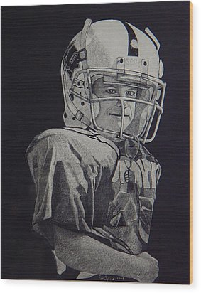 coach am I up Wood Print by Ron Sylvia