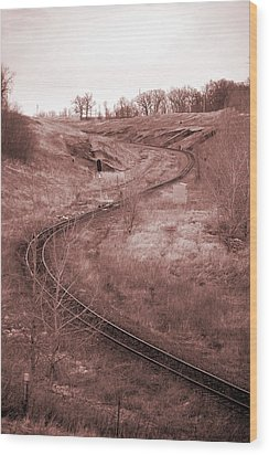 Coal Line S Wood Print by Jame Hayes