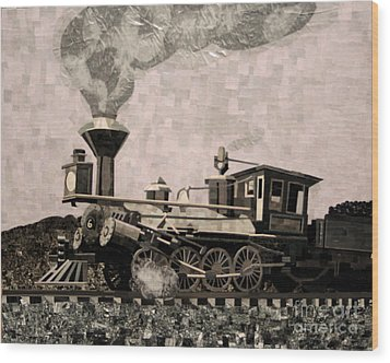 Coal Train To Kalamazoo Wood Print by Kerri Ertman