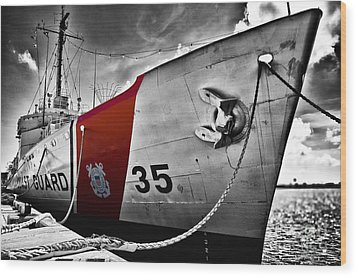 Coast Guard Wood Print by Alessandro Giorgi Art Photography