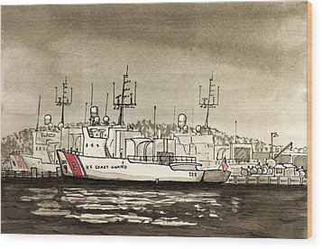 Coast Guard Base Portsmouth Wood Print
