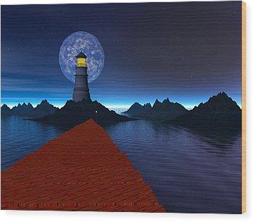 Coast Wood Print by Mark Blauhoefer