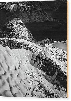 Coast Mountain Spring Wood Print