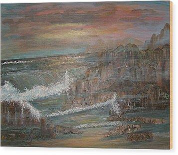Coastal Brillancy Wood Print by Mikki Alhart
