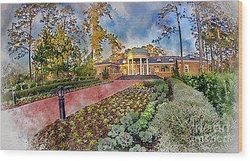 Coastal Carolina University Digital Watercolor Wood Print by David Smith