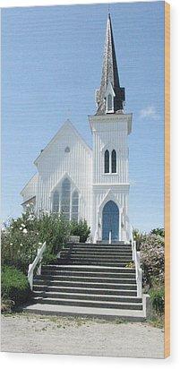 Coastal Church Wood Print