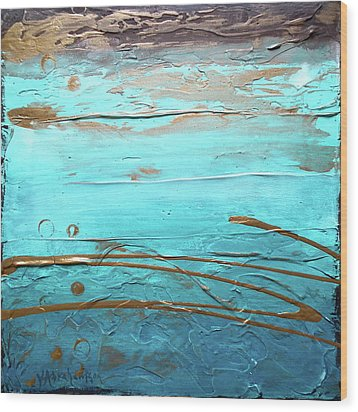 Coastal Escape I Textured Abstract Wood Print