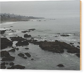 Coastal Fog Wood Print by Russell Keating