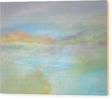 Coastal Mist Wood Print by Filomena Booth
