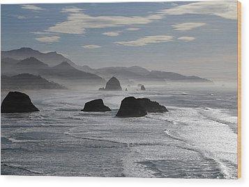 Coastal Mist Wood Print by Randall Brewer