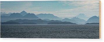 Coastal Mountains Wood Print