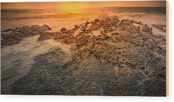 Coastal Rocks Wood Print