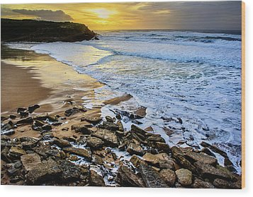 Wood Print featuring the photograph Coastal Sunset by Marion McCristall