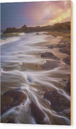 Wood Print featuring the photograph Coastal Whispers by Darren White