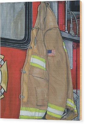 Coat Of Courage U.s. Wood Print by Bobbi Whelan