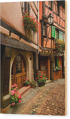 Cobble Stoned Street Wood Print