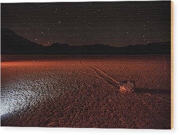 Wood Print featuring the photograph Cobblestones On The Racetrack Playa by Peter Thoeny