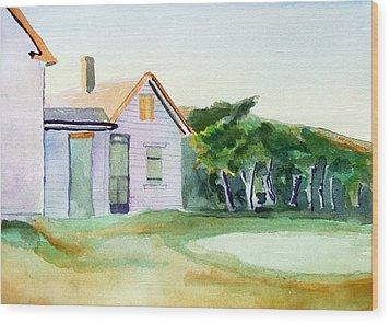 Cobb's House After Edward Hopper Wood Print