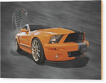 Cobra Power - Shelby Gt500 Mustang Wood Print