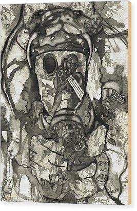 Cobra Wood Print by Valera Ainsworth
